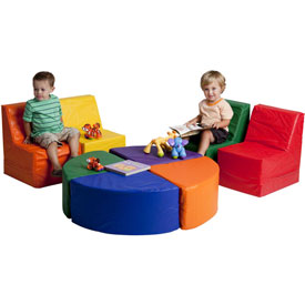 ECR4Kids® SoftZone™ 8 Piece Sectional