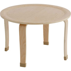 "ECR4Kids® 30"" Round Bentwood Play Table - 20"" Legs"