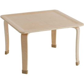 "ECR4Kids® 30"" Square Bentwood Play Table - 16"" Legs"