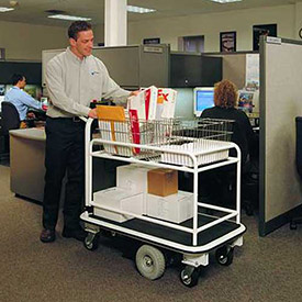 Electro Kinetic Technologies Motorized Mail Room Cart MMC-1772-SMO1 1500 Lb. Cap. with Baskets