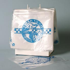 "Reclosable 'Zip' ""Fresh To Go"" Printed 2 Colors - Ldpe  8 x 10 1.2 Mil, Pkg Qty 1,000"