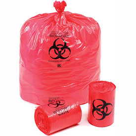 """Linear Low Density Red Infectious Waste Liner, 1.5 mil, 37"""" x 50"""", Pkg Qty 60"""