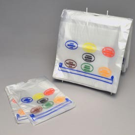 Saddle Pack Printed Portion Control Bags  - All Days (7 Colors) 7 x 6.5 0.5 Mil, Pkg Qty 2,000