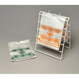 Printed Portion Control Bags - Saturday (Print In Orange Ink) 8.5 x 10 0.5 Mil, Pkg Qty 2,000