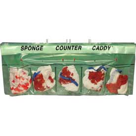 "Sponge Counter Caddy, 25-1/2"" x 6"", Pkg Qty 250"