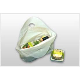 Plain White (No Print) Take-Out Bag With Bell-Top Carry Handle 18 x 21 1.25 Mil, Pkg Qty 500