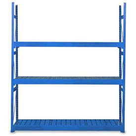 "Equipto Vg Bulk Rack 60""W X 30""D X 72""H Add-On W/Corrugated Steel Decking, Textured Regal Blue"
