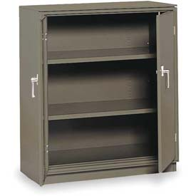 "Equipto Counter High Cabinet, 36""W x 18""D x 42""H, Smooth Office Gray"