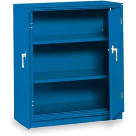 "Equipto Counter High Cabinet, 36""W x 24""D x 42""H, Textured Regal Blue"