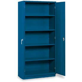 "Equipto 5-Shelf Storage Cabinet 36""W x 18""D x 78""H - Textured Regal Blue"