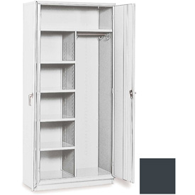 """Equipto 36""""W x 18""""D Combination Cabinet Smooth Office Gray by"""