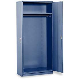 "Equipto Wardrobe Cabinet, 36""W x 24""D x 78""H, Textured Regal Blue"