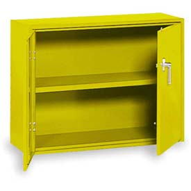 "Equipto Handy Cabinet w/Lower Handle Placement, 36""W x 13""D x 27""H, Textured Safety Yellow"