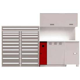 Lift Control Drawer - 1 Unit, Red