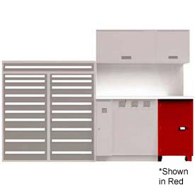 Service Locker w/ Cart 1 Unit, Green