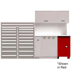 Service Locker w/ Cart 1 Unit, Dove Gray