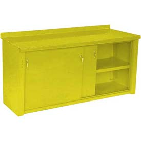 Closed Workbench w/Sliding Door - 4', Yellow