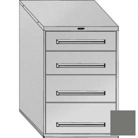 """Equipto 30""""W Modular Cabinet 44""""H, 4 Drawers No Divider, Keyed Alike Lock-Smooth Office Gray by"""