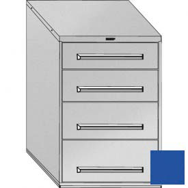 "Equipto 30""W Modular Cabinet 44""H, 4 Drawers No Divider, No Lock-Textured Regal Blue"