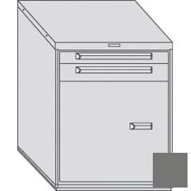"Equipto 30""W Modular Cabinet 2 Drawers w/Dividers, Door & Shelf, 38""H, No Lock-Smooth Office Gray by"