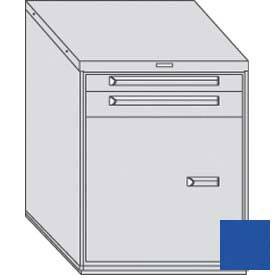 "Equipto 30""W Modular Cabinet 2 Drawers No Divider w/Door & Shelf, 38""H & Lock-Textured Regal Blue"