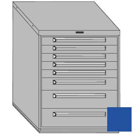 "Equipto 30""W Modular Cabinet 8 Drawers w/Dividers, 38""H, No Lock-Textured Regal Blue"