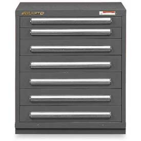 "Equipto 30""W Modular Cabinet 7 Drawers No Divider, 33-1/2""H, & Lock-Smooth Office Gray"