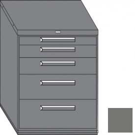 """Equipto 45""""W Modular Cabinet 38""""H 5 Drawers No Divider, No Lock-Smooth Office Gray by"""