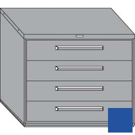 "Equipto 45""Wx38""H Modular Cabinet 5 Drawers w/Dividers, & Lock-Textured Regal Blue"