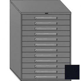 "Equipto 45""W Modular Cabinet 12 Drawers w/Dividers, 59""H, No Lock-Textured Black"