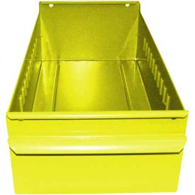 "Equipto Individual Metal Shelf Drawer, 4-1/4""W x 11""D x 3-1/8""H, Textured Safety Yellow"