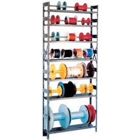 "Equipto Wire Spool Rack Unit 8""D x 36""W x 84"" H- w/ 7 Shelves, Yellow"