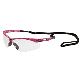 ERB Annie Safety Glasses, Pink Camo Frame, Clear Lens, 15341 Package Count 12 by