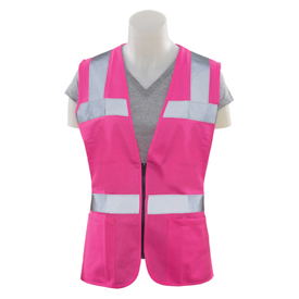 ERB Girl Power At Work S721 Fitted Non-ANSI Safety Vest, Hi-Viz Pink, 4XL, 61924 by