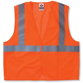 Ergodyne® GloWear® 8210HL Class 2 Economy Vest, Orange, S/M