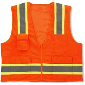 Ergodyne® GloWear® 8248Z Class 2 Two-Tone Surveyors Vest - Orange, 24063