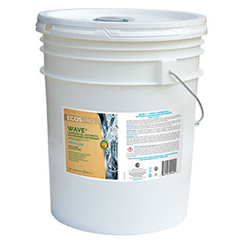 Earth Friendly Products Wave Commercial Dishwasher Detergent Free & Clear 2X, 5 Gal. Pail- PL9440/05