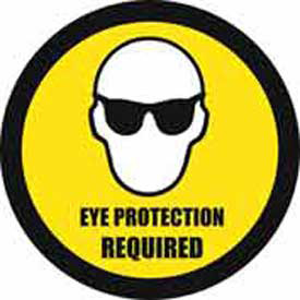 "Durastripe 24"" Round Sign Eye Protection Required by"