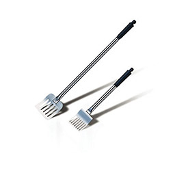 "Saint Romain 1701 Perforated Cooking Spatula, Stainless Steel, 19-1/2""L by"