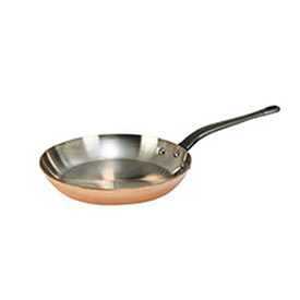 "De Buyer 6465.26 Frying Pan, Round, Copper Exterior, Stainless Steel Interior, 10-1/4"" Dia. by"