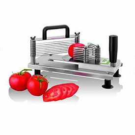 "Tellier CTXM55 Small Tomato Slicer, Stainless Steel, 5-1/2""L x 12""W x 7""H by"