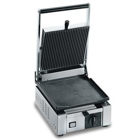 Eurodib/ Sirman Small Single Panini Grill Ribbed 220 Volt by