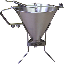 """Eurodib EX180014 Sauce Funnel, Stainless Steel, 11"""" Dia. by"""
