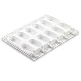 "Silikomart GEL01 - Ice Cream / Popsicle Mold, 6 Cavities, Silicone, 2""L x 3-11/16""W x 1""H"