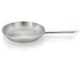 "Click here to buy Homichef HOM432805 Round Fry Pan, Stainless Steel Exterior, Aluminum Interior, 11"" Dia.."