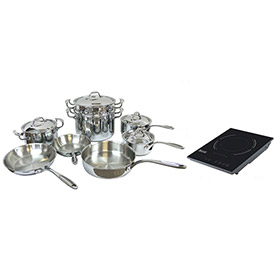 Click here to buy Homichef HOMSET13 Cookware Set, 13-Piece, With Induction Cooker.
