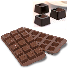 Silikomart SCG02 Baking Mold, Cubo, Silicone, Makes 15 Pieces by