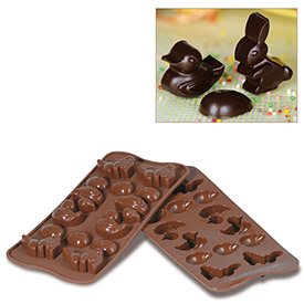 Silikomart SCG05 Baking Mold, Easter, Silicone, Makes 14 Pieces by