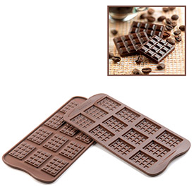 Silikomart SCG11 Baking Mold, Tablette, Silicone, Makes 12 Pieces by