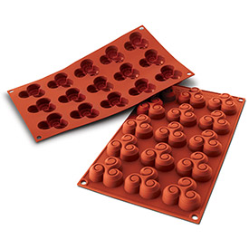 Silikomart SF062 Baking Mold, Triskell, Silicone, Make 15 Pieces by